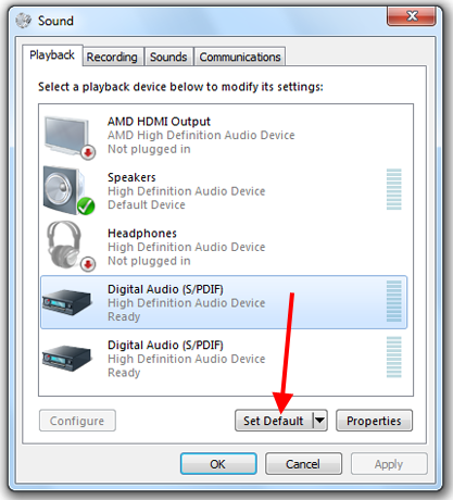 How To Set The Windows Default Playback & Recording Audio